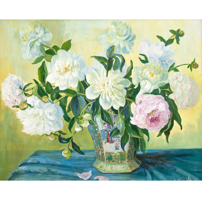 Peonies In Chinese Vase <span>NANCY GALLERY</span>