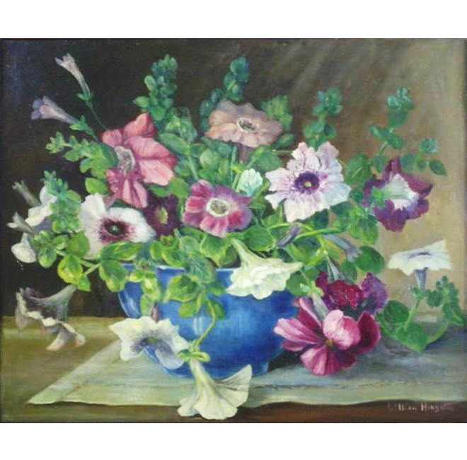Petunias on a Table <span>MACDOUGALL-BETHELL FAMILY</span>
