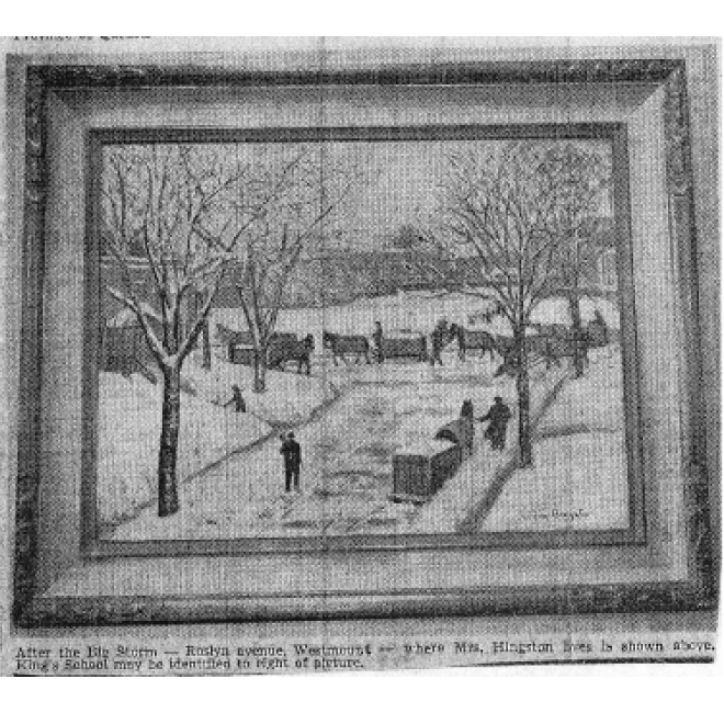 After the Big Storm <span>MONTREAL DAILY STAR, FEB. 21 1950</span>