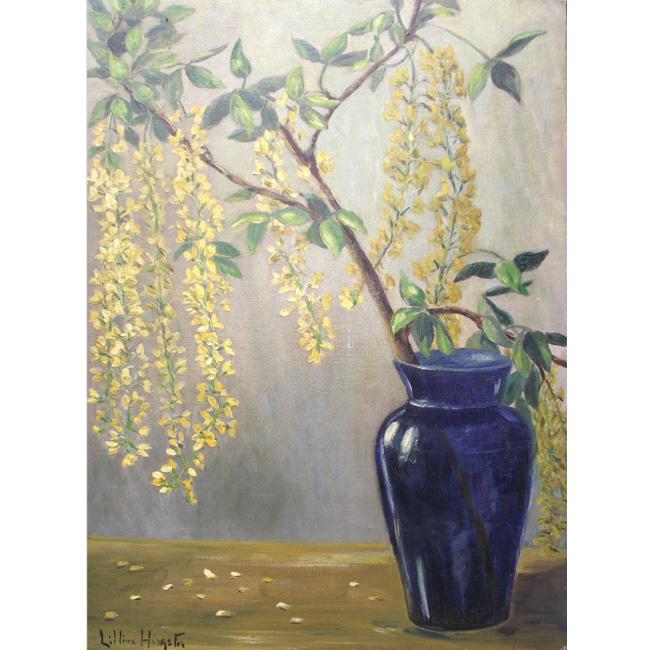 Tree Branch in Blue Vase <span>HAGUE VAUGHAN</span>