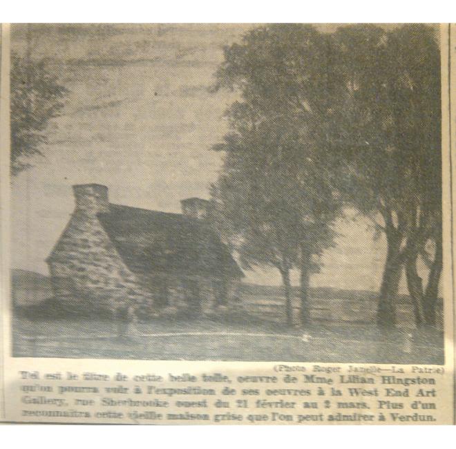 Old House in Verdun <span>LA PATRIE, FEB. 19 1950</span>