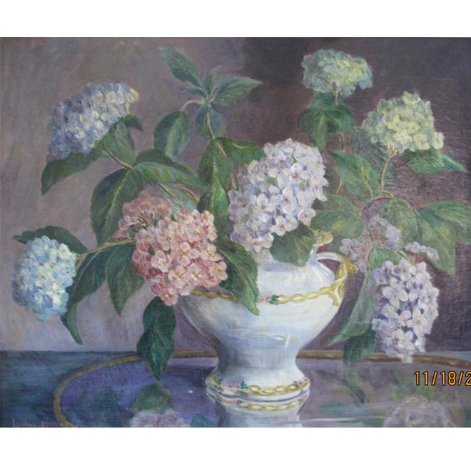Lilacs In A White Vase <span>CORNELIA MOLSON</span>