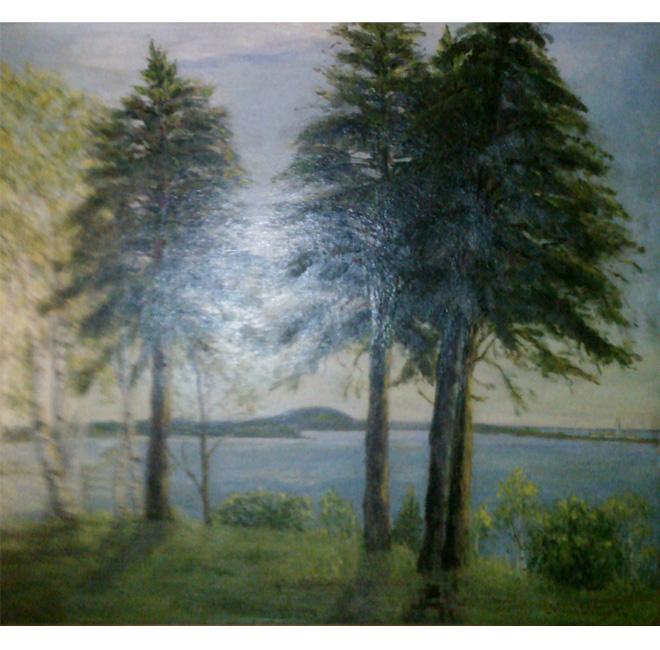 Lake with Pines <span>SANDRA DOLAN</span>