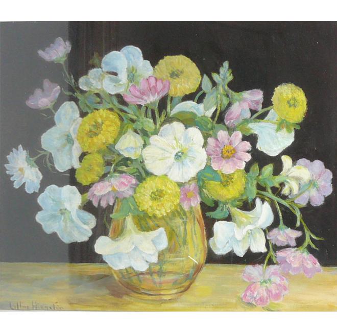 Petunias in a Glass Vase <span>DONALD GRAY-DONALD</span>