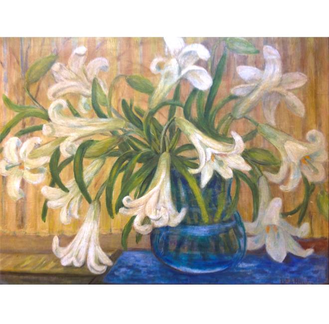 Lilies In Glass Vase <span>KATHERINE PORTER</span>