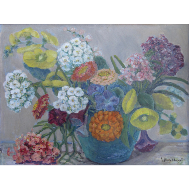 Summer Blooms In A Blue Vase <span>CORNELIA MOLSON</span>
