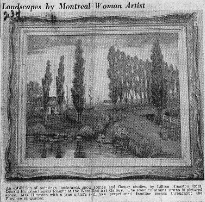 The Road to Mount Bruno <span>MONTREAL DAILY STAR, FEB. 21 1950</span>