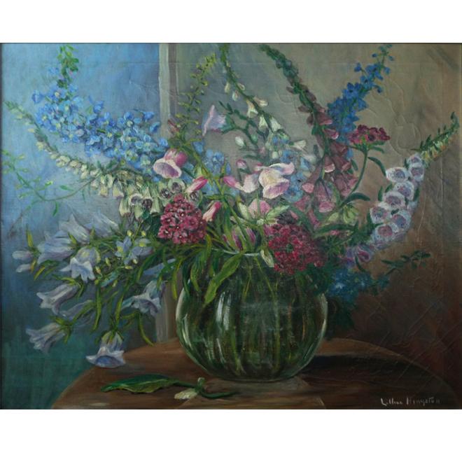 Lilacs, Campanula, and Fox Gloves <span>DAPHNE DOLAN</span>