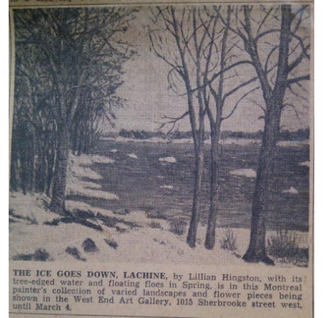 The Ice Goes Down, Lachine <span>MONTREAL GAZETTE, FEB. 25 1950</span>