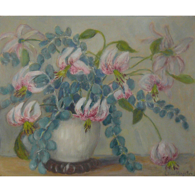 Lilies In A White Vase <span>DONALD GRAY-DONALD</span>