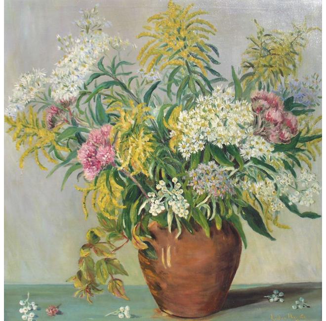 Wild Flowers in Terracotta Vase <span>HAGUE VAUGHAN</span>