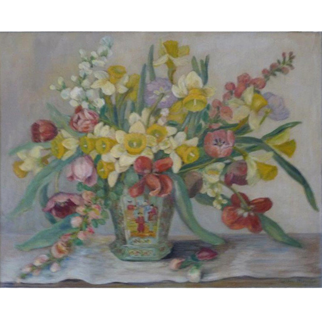 Varied Bouquet In Chinese Vase <span>COLIN STAIRS</span>