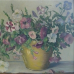 Petunias In Yellow Vase <span>BEA REDPATH STOKES</span>