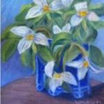 Trilliums In Blue Vase <span>BRIAN GALLERY</span>