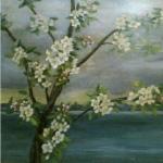 Apple Blossoms with Lake <span>SANDRA DOLAN</span>