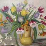 Bouquet in Yellow Vase <span>HAGUE VAUGHAN</span>
