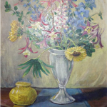 Bouquet In Silver Vase <span>MARY GALLERY</span>