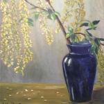 Tree Branch in Blue Vase <span>HAGUE VAUGHAN</span>
