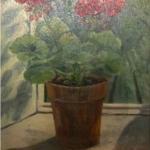 Geraniums on a Windowsill <span>WILLIAM H.DALY</span>