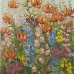 Tiger Lillies in a Garden <span>SANDRA DOLAN</span>