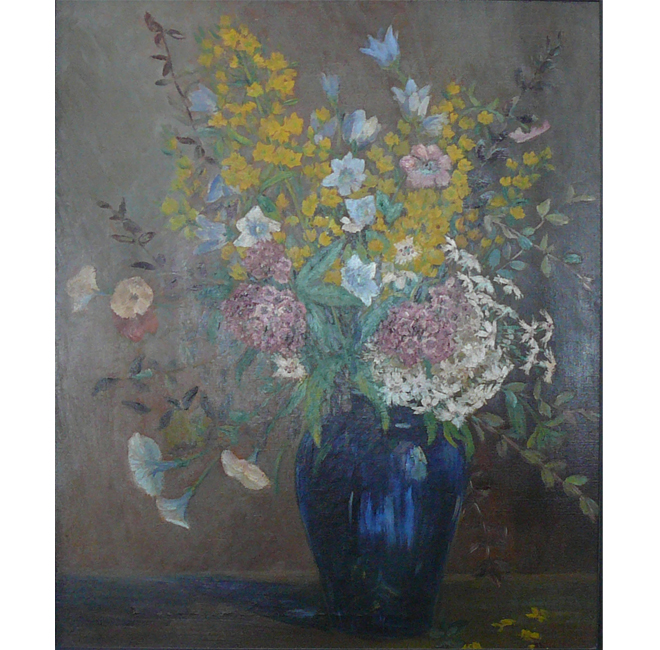 Flowers In A Blue Vase <span>DONALD GRAY-DONALD</span>