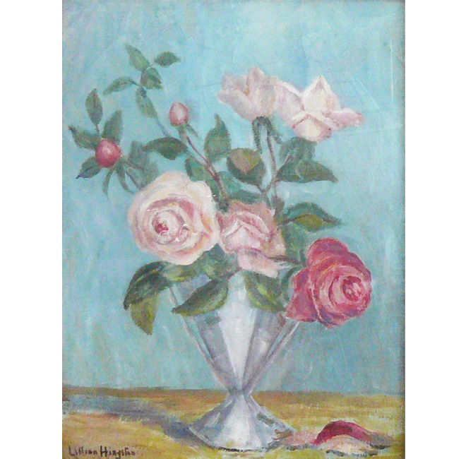 Roses In A Glass Vase <span>DONALD GRAY-DONALD</span>